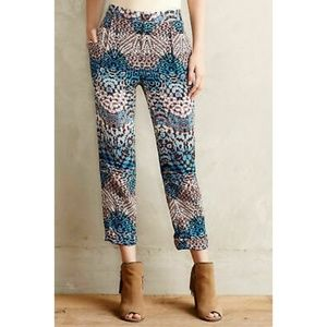 Anthropologie Elevenses Floral Capri Size 2